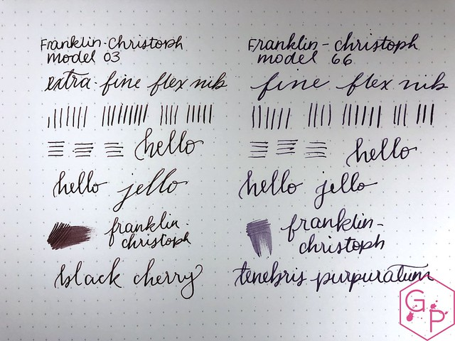 Franklin-Christoph Extra-Fine Flex Nib vs. Fine Flex Nib 5