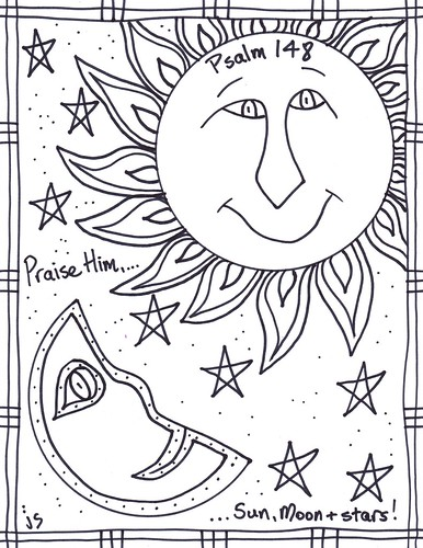 Psalm 148 coloring page