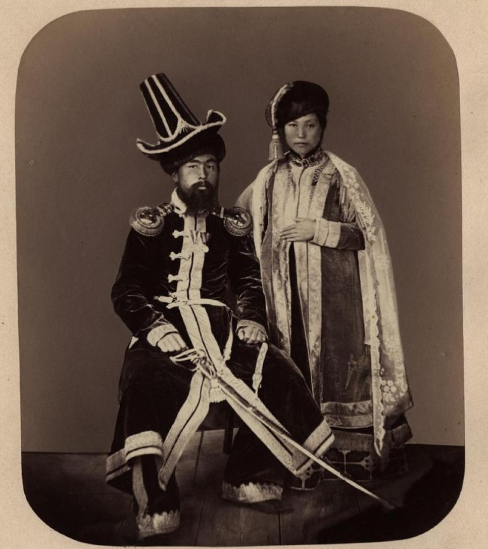 12. Киргизский султан с женой