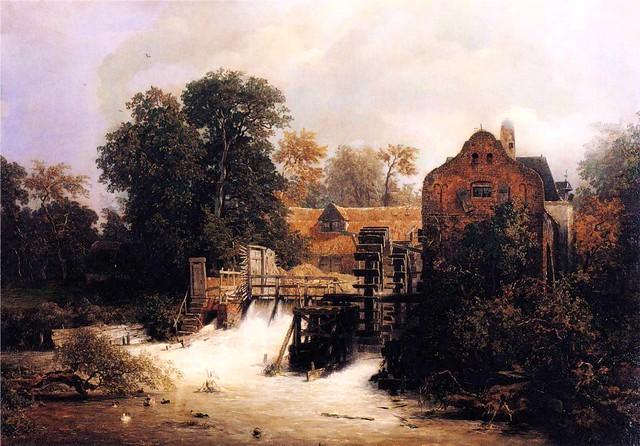 Achenbach, Andreas (1815-1910) - 1869 Westphalian Mill (Museum der Bildenden Kunste, Leipzig, Germany)
