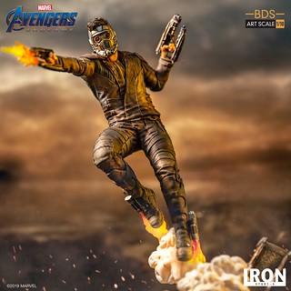Iron Studios Battle Diorama 系列《復仇者聯盟:終局之戰》星爵 Star Lord 1/10 比例決鬥場景雕像作品