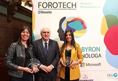 16/05/2019 - Deusto entrega el premio Ada Byron a las mujeres tecnólogas Concha Monje y Ana María Freire