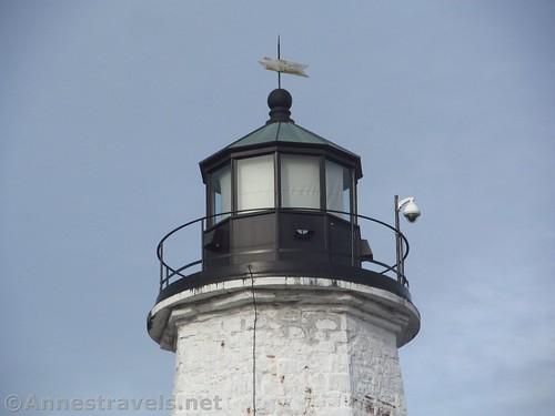 The top of the historic Charlotte Lighthouse - and the weather vein - Rochester, New York