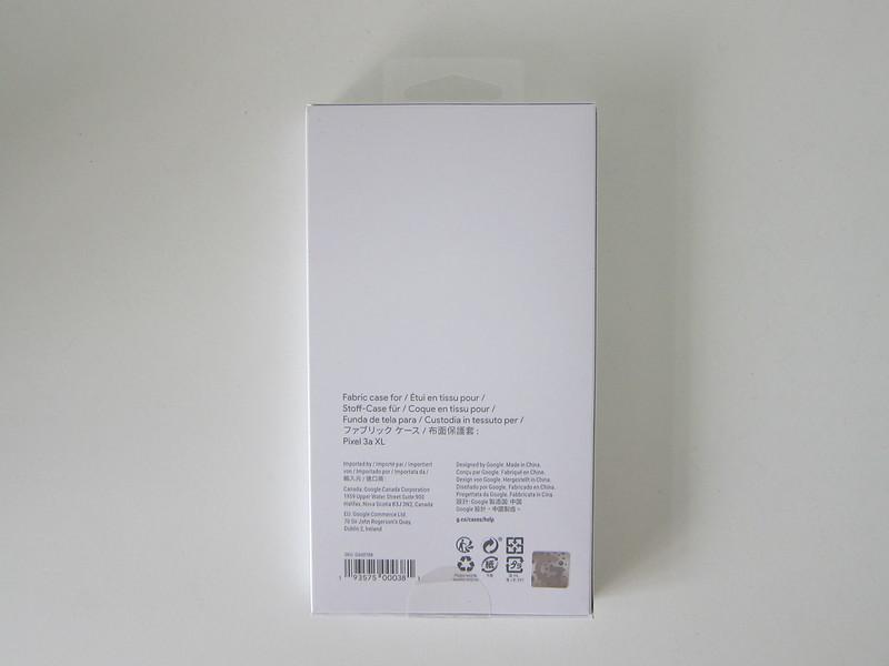 Google Pixel 3a XL Fabric Case - Box Back