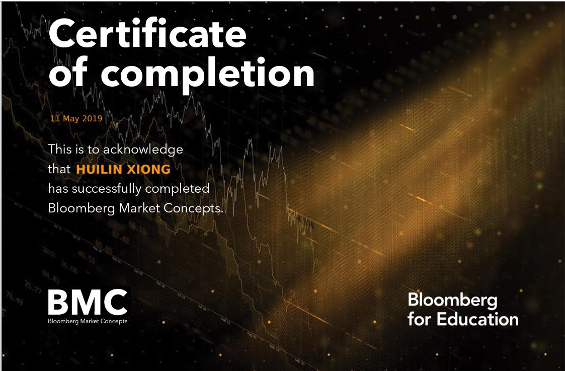 BMC Certificate