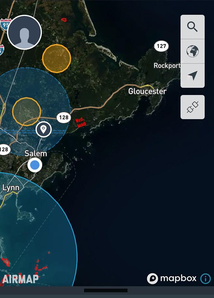 West Beach and air traffic circles