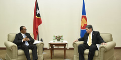 Bilateral meeting between Minister of Foreign Affairs and Cooperation of Timor-Leste and Secretary General of ASEAN