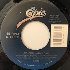 SADE:NO ORDINARY LOVE(LABEL SIDE-A)