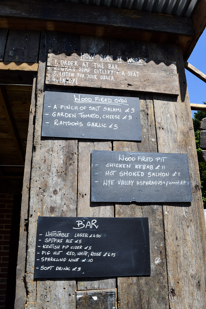 Outdoor Menu at The Pig Hotel, Bridge