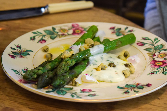Local Asparagus at The Pig Hotel, Bridge