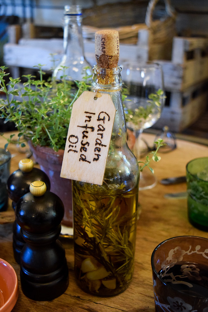 Garden Infused Oil at The Pig Hotel, Bridge