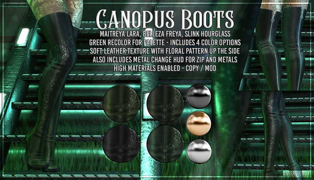 AsteroidBox. Canopus Boots – Green Version for Palette