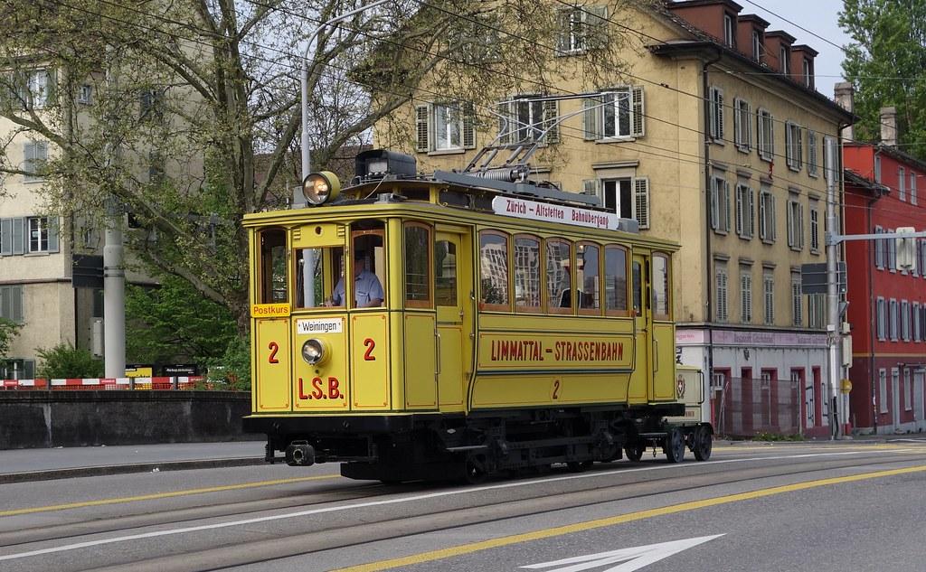 Tram Museum Zürich - LSB 2 mit Postrolli Z2