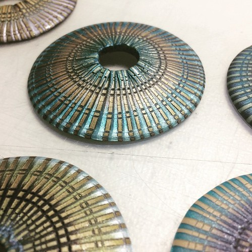 #caught #circles #incircles #again #andagain #polymerclay #fauxmosaic #ilovemyjob #onmytabletoday | by Jana Honnerová
