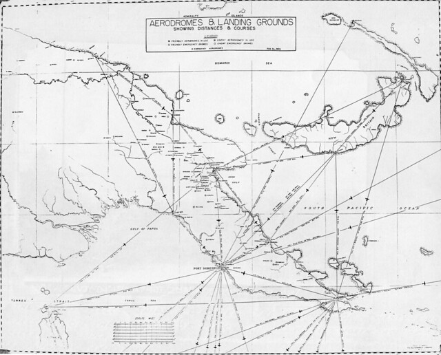 Flight map: Aerodromes and Landing Grounds February 1943