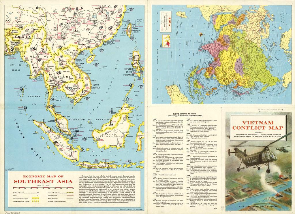 Vietnam Conflict Map 1965 Collections Lib Uwm Edu Digita Flickr