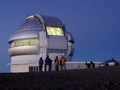 Gemini North Observatory: Opening for the Night