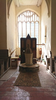 font, organ, west window