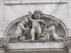 New Amsterdam Theatre Putti Acting Gargoyles 8447