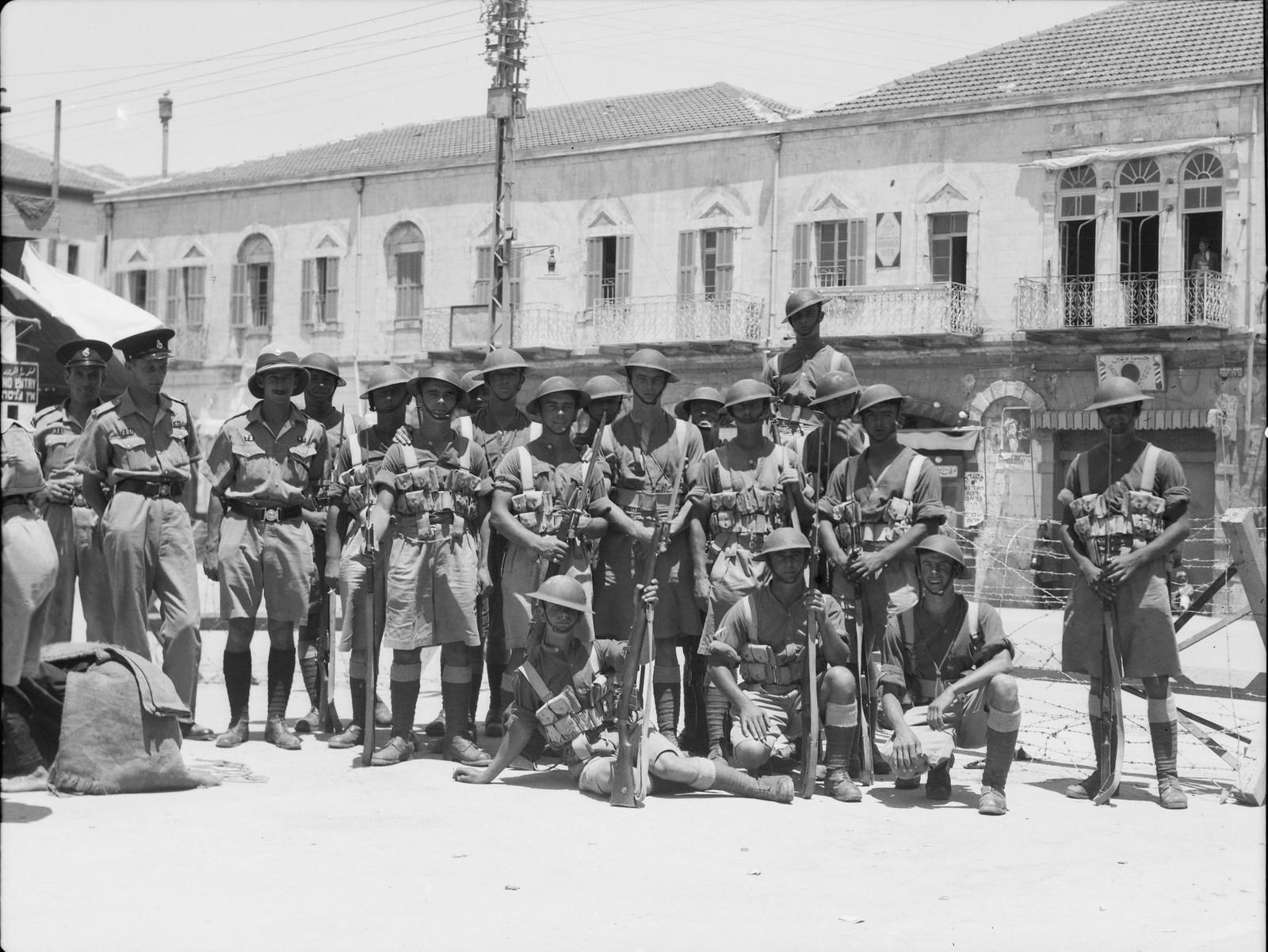 07. Яффо. Британские войска на главной улице