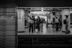 Toei Asakusa Line Nihombashi Station Platform