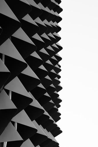 sahmri building architecture light mono facade triangles pattern windows abstract