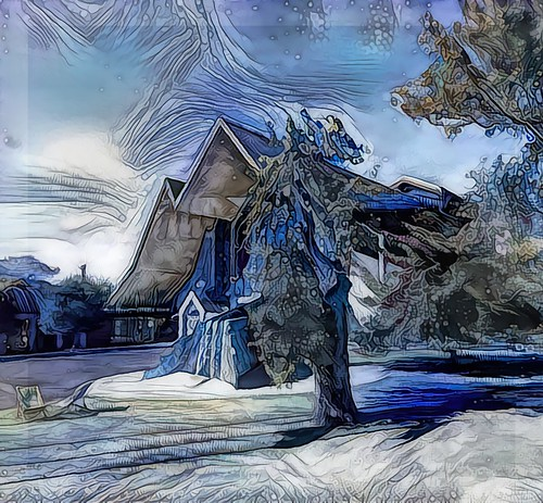 013234 rx100m6 ddg deepdreamgenerator topaz topazstudio texture textures textur texturen auckland newzealand holytrinitycathedral awardtree blue blau outdoor building architecture architektur kirche kathedrale cathedral trolled