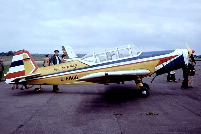 D-EMUD   Zlin Z.226T Trener 6 [370] Dunkeswell~G 28/05/1973