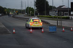 Merseyside Police BMW. (Road closed)