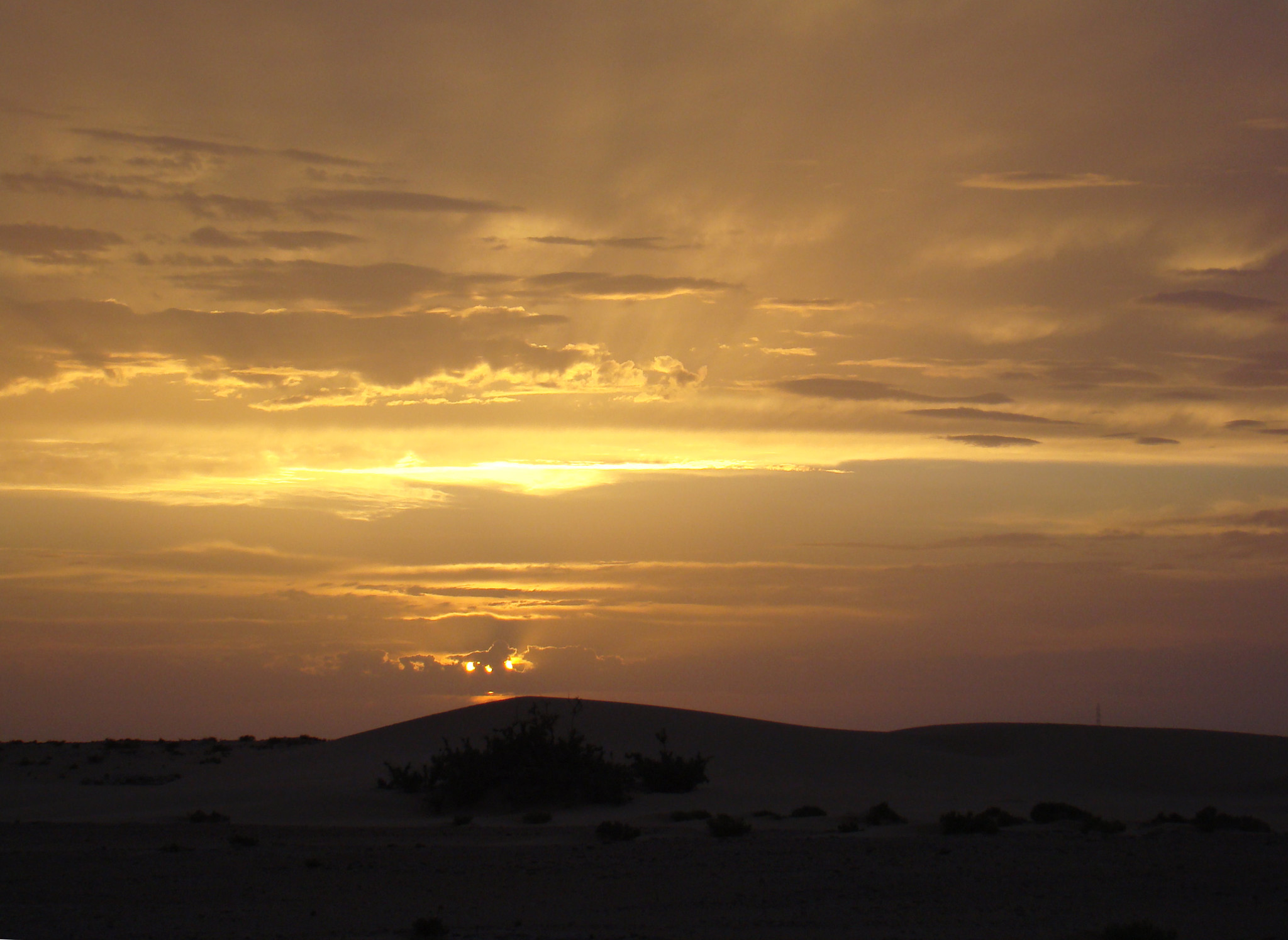 Atardecer en el desierto del Sahara Occidental