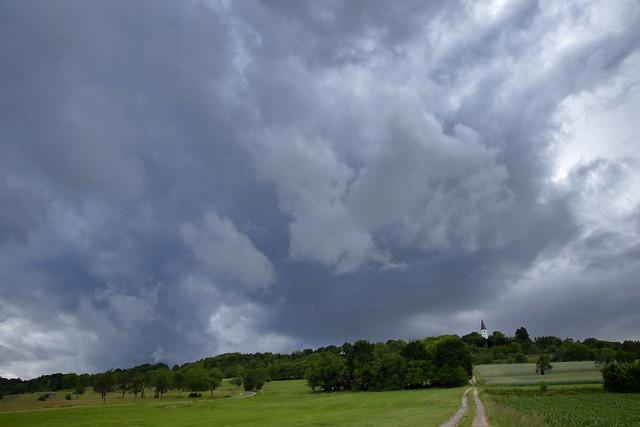 Le ciel en colère