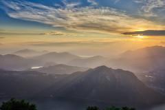 Tramonto sul monte San Salvatore