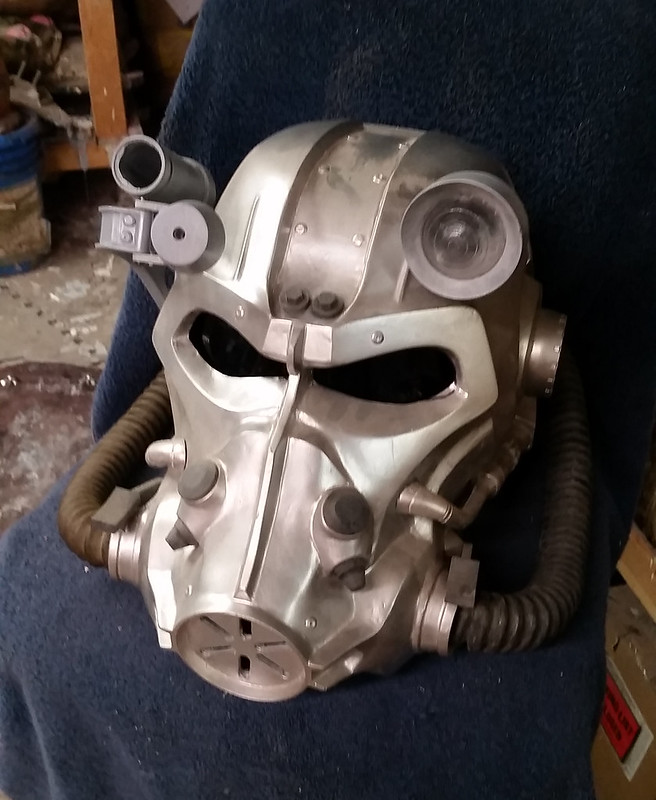 T-60 Helmet Headlight Lens Installed