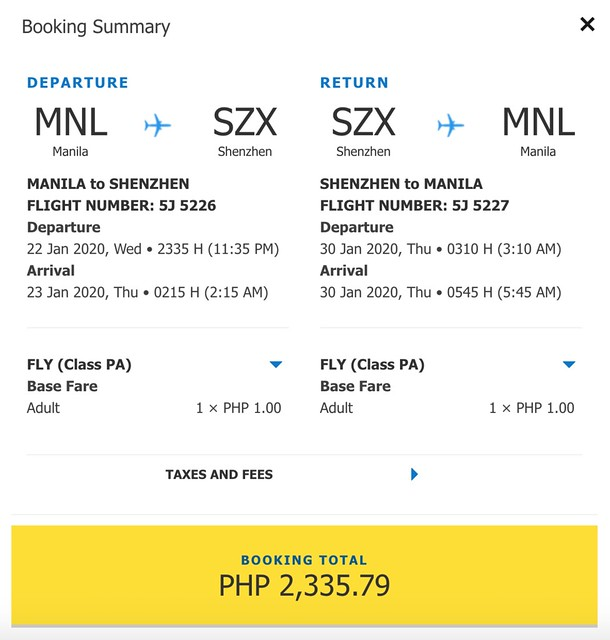 Cebu Pacific Promo - Manila to Shenzhen