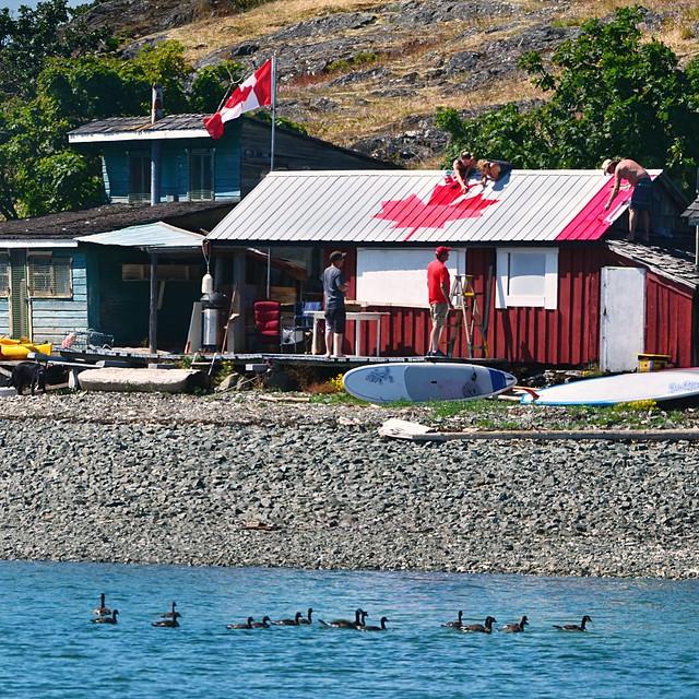 Happy Canada Day, Shack Island style . . .