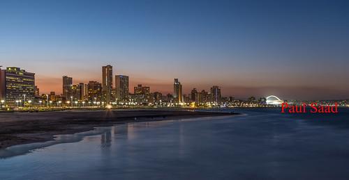 durban longexposure beach night sunset dusk dawn sea lights southafrica nikon buildings