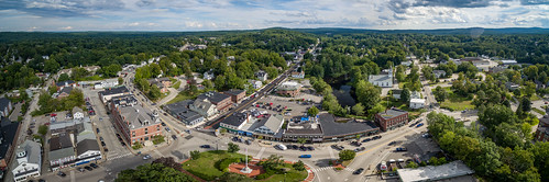 milford newengland newhampshire sethjdeweyphotography aerial clouds drone panorama summer