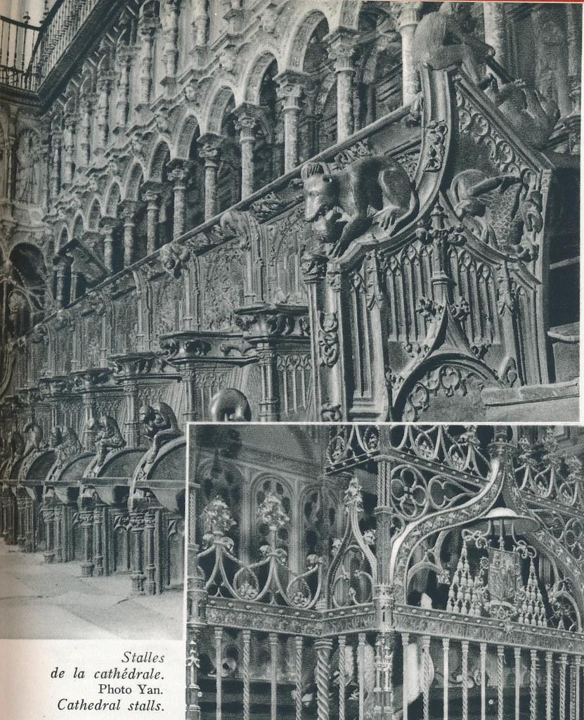 """Sillería de la catedral. Libro de Víctor Crastre. Foto de Jean Dieuzaide """"Yan"""""""