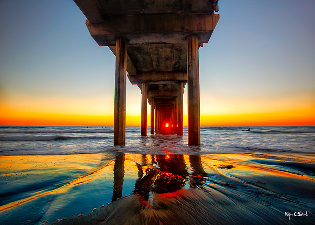Scripps Pier Sunset in La Jolla, California