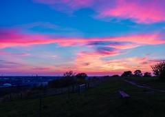 Sunset over Næstved
