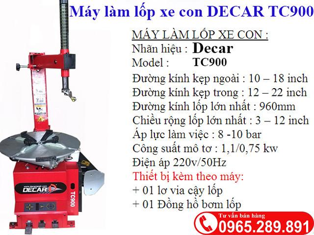May thao lop xe ga DECAR TC900 - 2