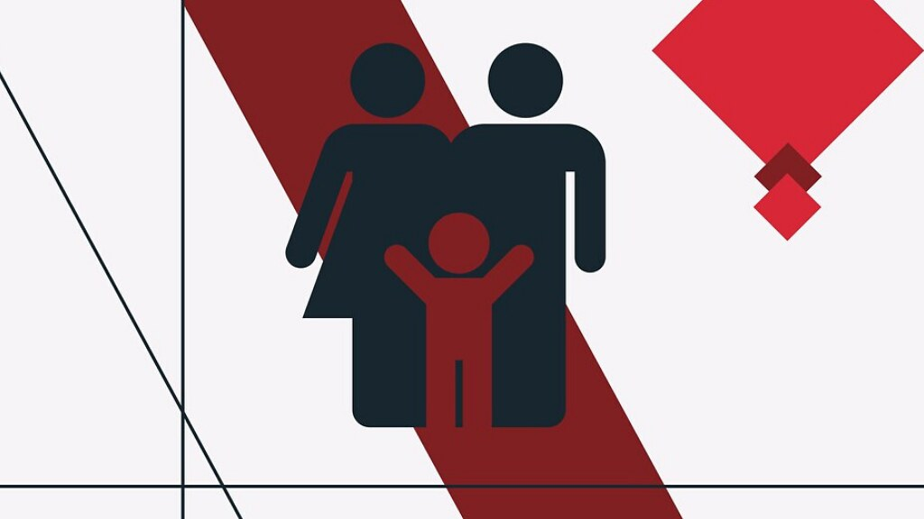 A graphic of a family