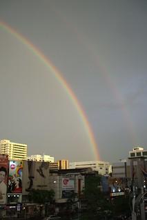 Rainbow over Bangkok