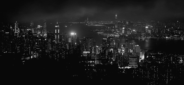 Night View from Jardine's Lookout, Hong Kong