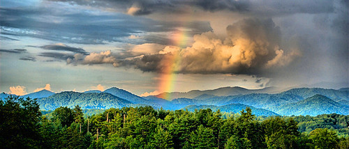 rainbow mountains appalachian thunderstorm
