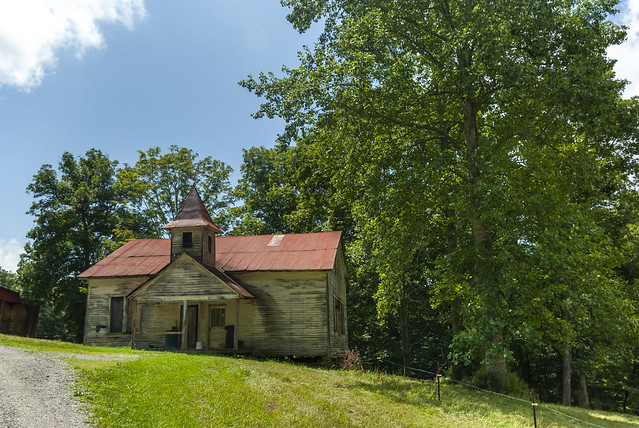 Old Rushing Springs School, Overton Co, TN