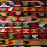 Beehive style Armenian rug.  Rug museum, Shusha, Artsakh