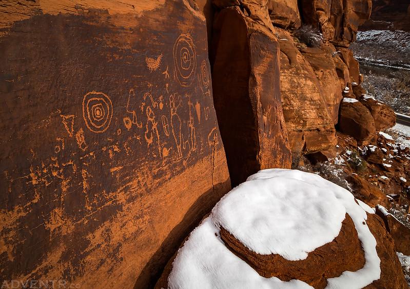 Snow & Petroglyphs