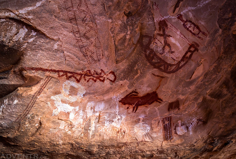 Red & White Pictographs