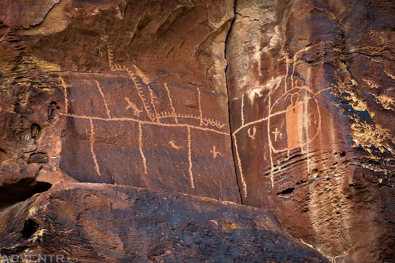 Corner Grid Petroglyphs
